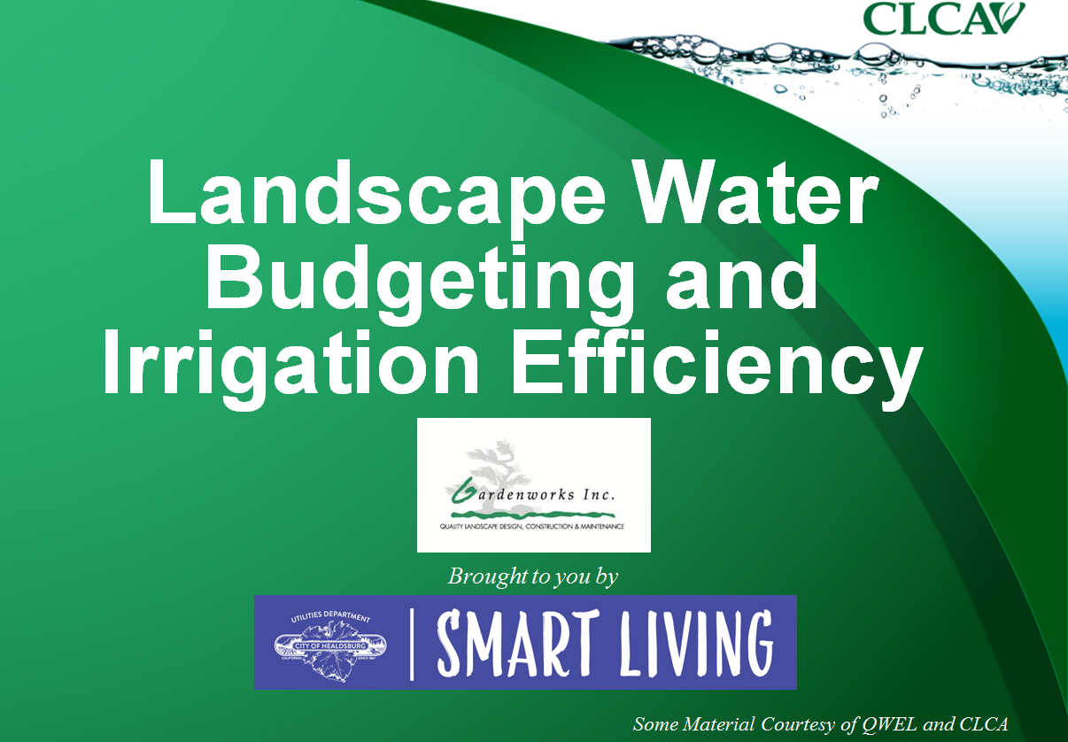 Water Budgetng and Irrigation Efficiency