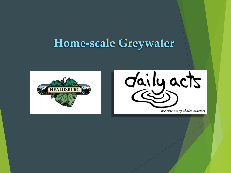 Home-Scale Greywater Systems
